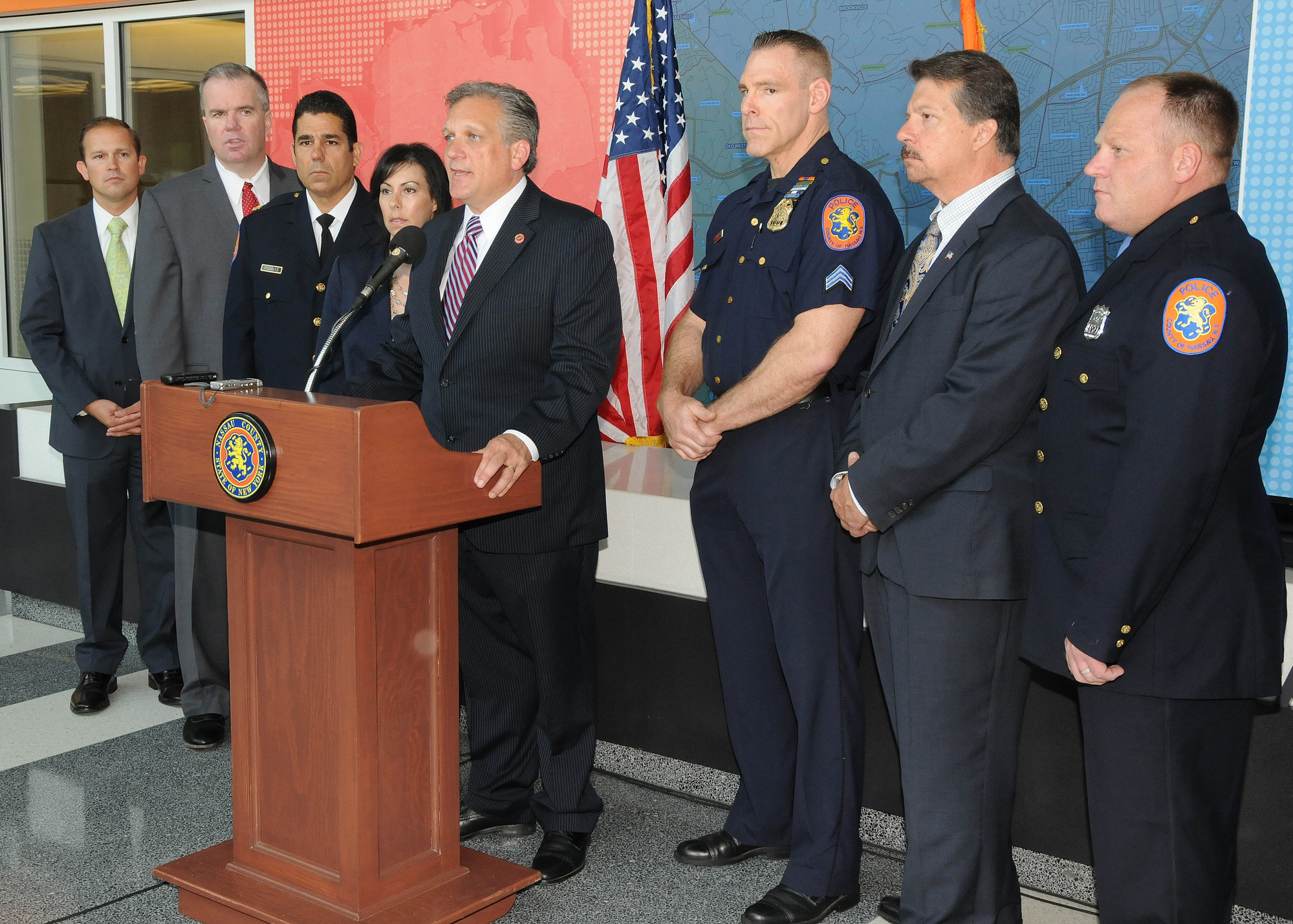 Nassau County Executive Ed Mangano announced on June 27 that 61 contractors were arrested after a sting operation was held throughout Franklin Square and Valley Stream.
