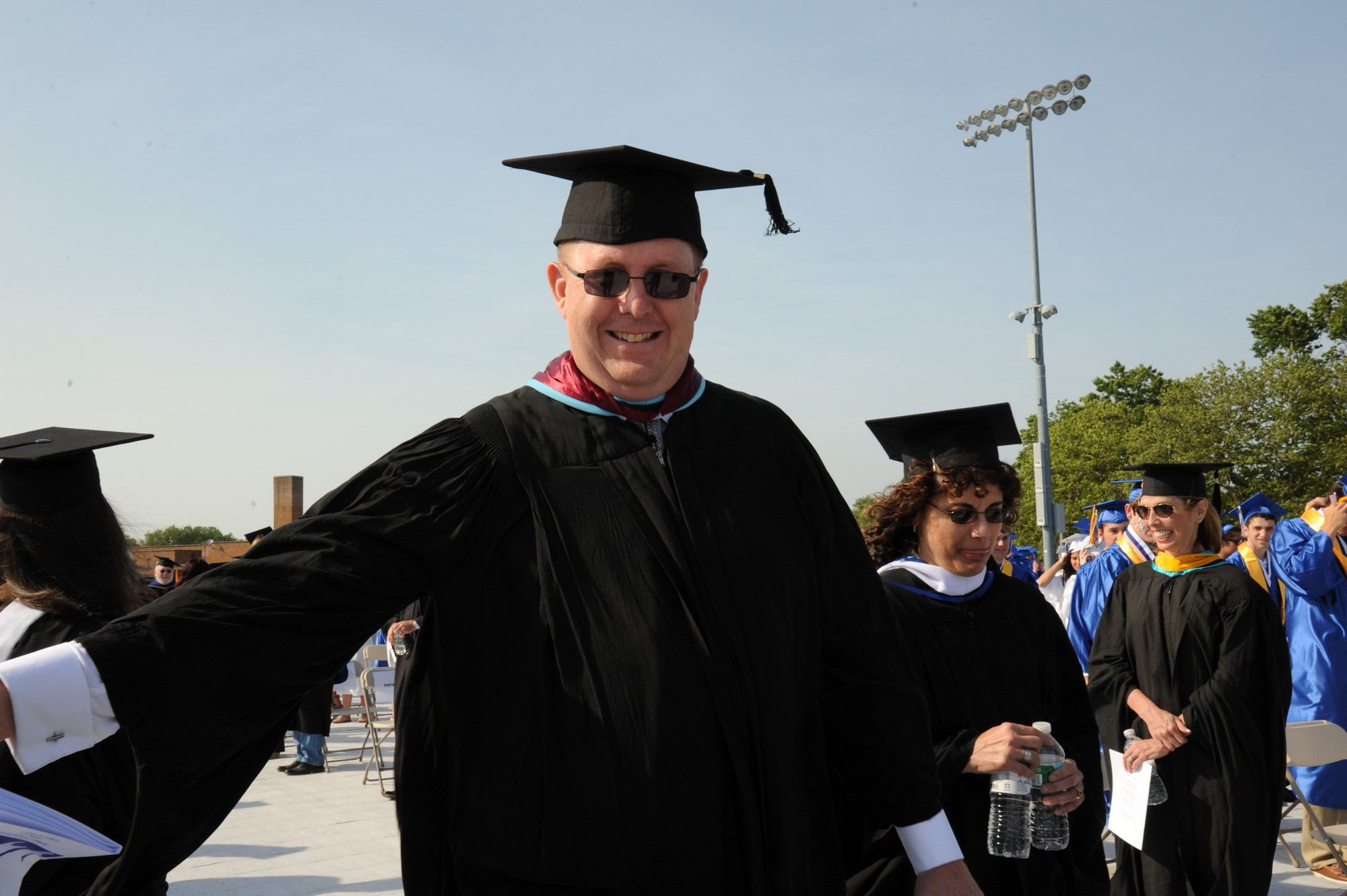 Oceanside High School principal Mark Secaur, pictured here at last month's graduation exercises, will be leaving August 1 to become an assistant superintendent in the Hewlett-Woodmere schools.