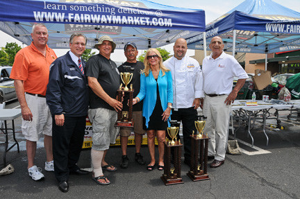 The East Meadow Fire Department finished in third place in Nassau County's 5th Annual Firefighter Cook-Off on June 28 at Fairway Market in Westbury.