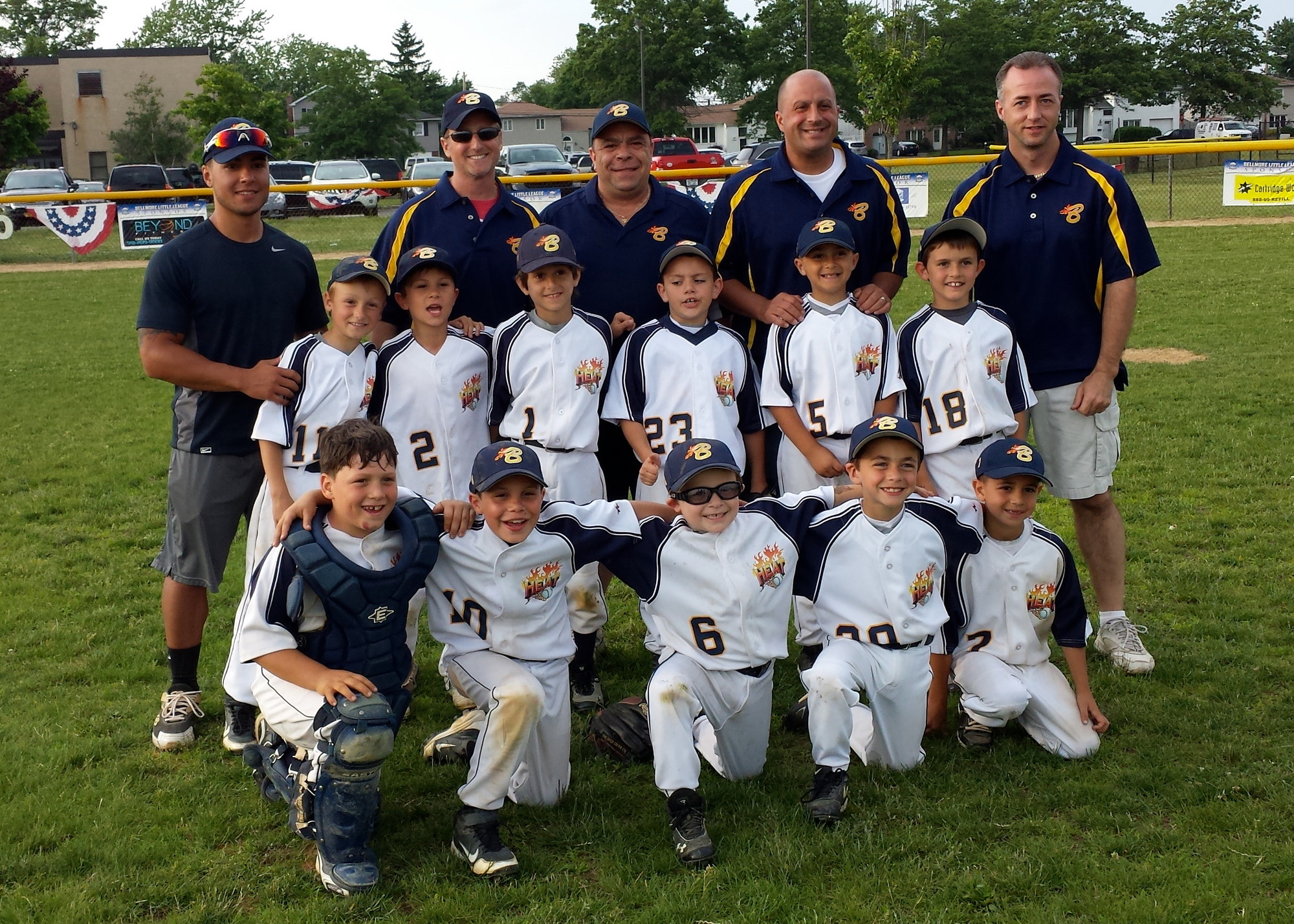 The Bellmore Heat tournament team for 8-year-olds captured the National Junior Baseball League 2013 Long Island National League Championship this spring.