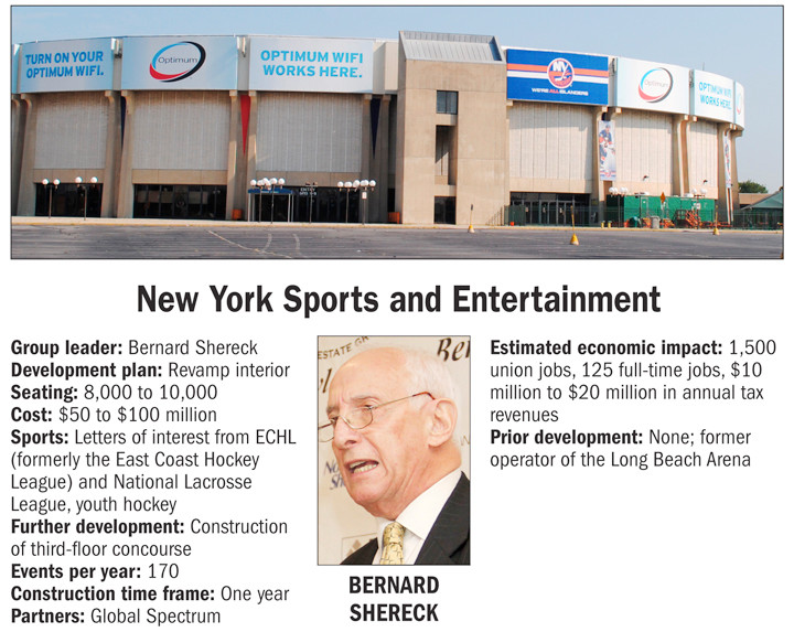 Bayville-based New York Sports and Entertainment, led by Bernard Shereck.