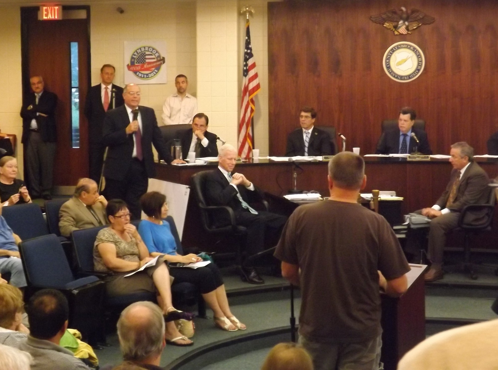 More than 30 residents asked questions and made comments during a July 2 public hearing at Lynbrook Village Hall regarding a Walgreens being built at the corner of Hempstead and Lakeview avenues.