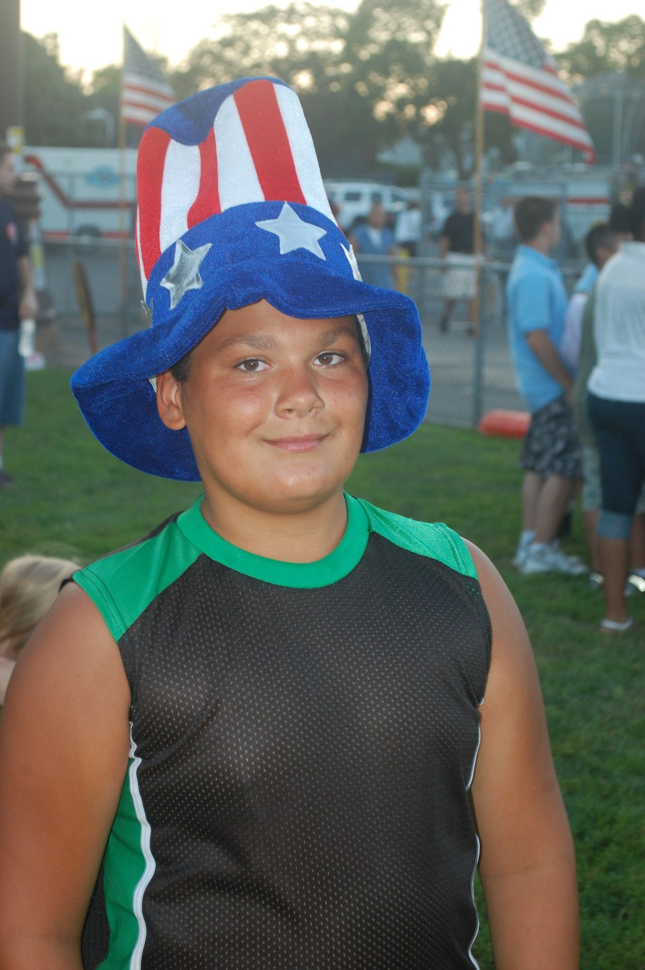 Nick Jones, 11, was in the patriotic spirit.