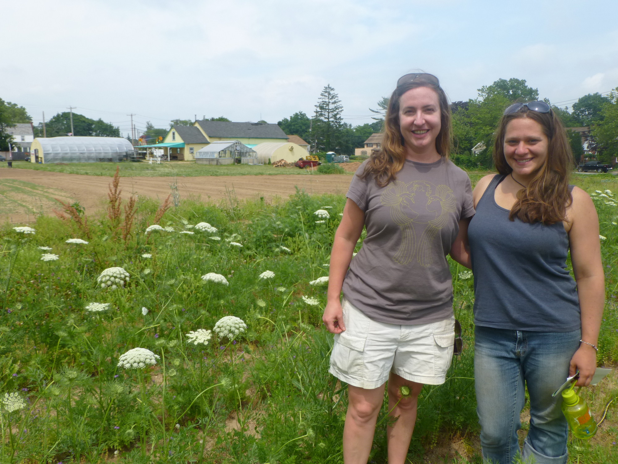 Corcoran, left, and Schaefer said they hope to turn this labor of love into a full-fledged organic farm in the coming years.