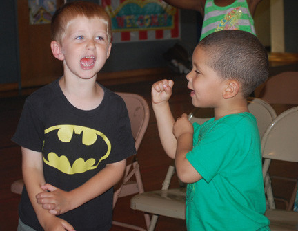 Timmy Neri, left, and Jaxson Baptichon were two of the 30 children who took part in the week-long program.