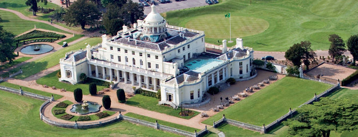 Stoke Park Country Club and Resort in Buckinghamshire, England is great for tennis and golf.