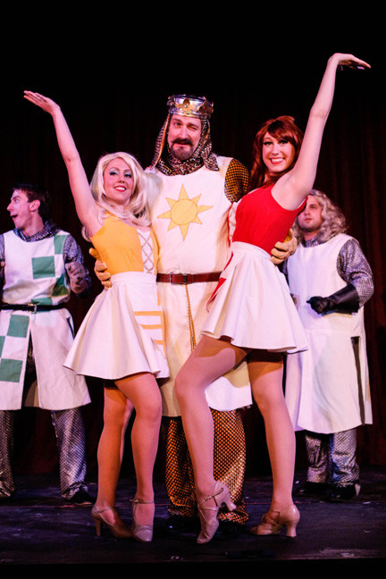 "BroadHollow Theatre Company brings ""Spamalot,"" the highly irreverent parody of the Arthurian legend, to its Elmont stage on Saturday."