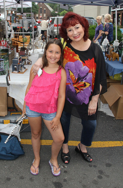 Skyla and Geralynn Marchesi had a great time walking the rows of vendors along Atlantic Avenue.