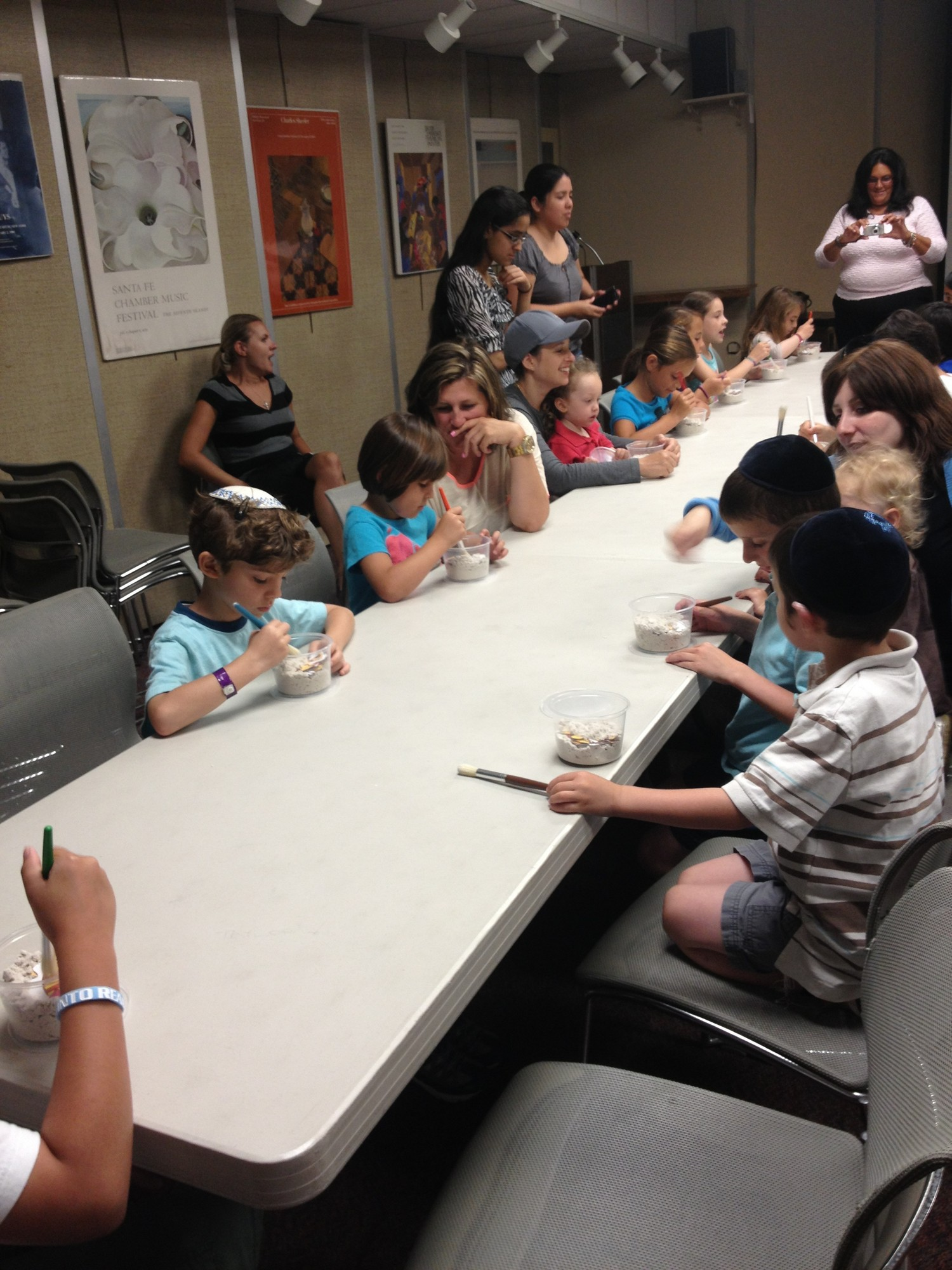 "Peninsula Public Library's Summer Reading program had children learning about archeology through a ""dig"" sponsored by the Long Island Children's Museum."