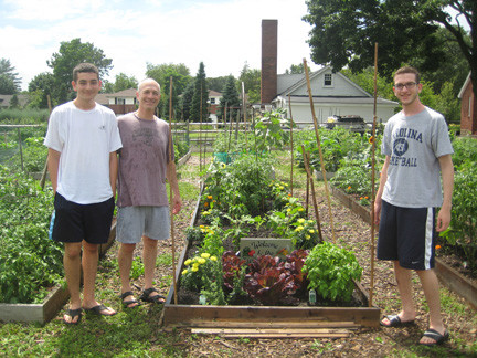 The farm offers community members the opportunity to plant their own gardens, and the Zucker family of East Meadow was busy working on theirs recently.