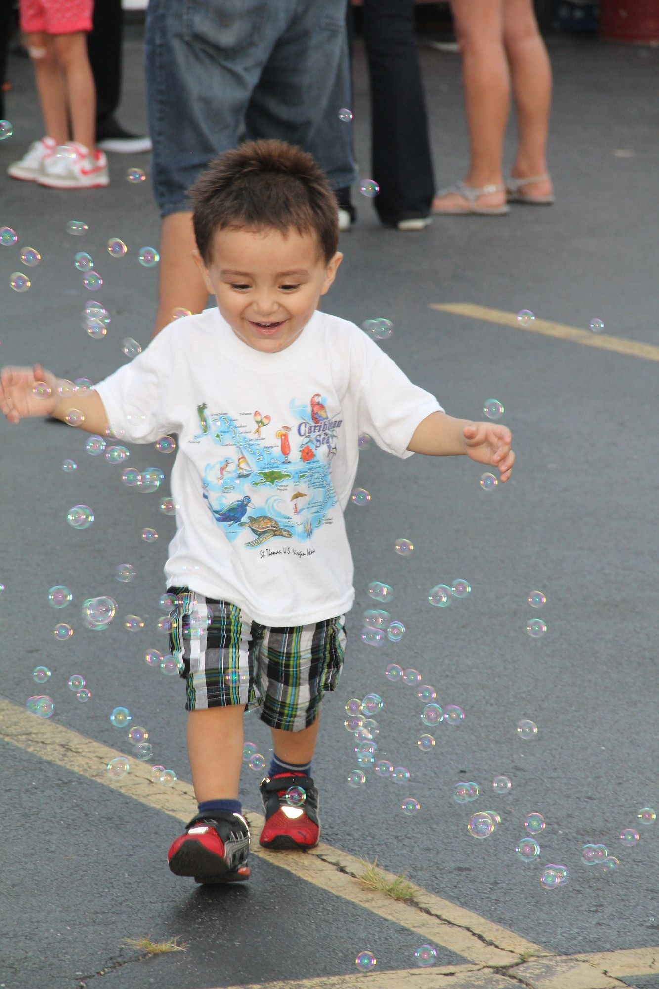 Anderson Morroquin had a bubbly good time at the feast.