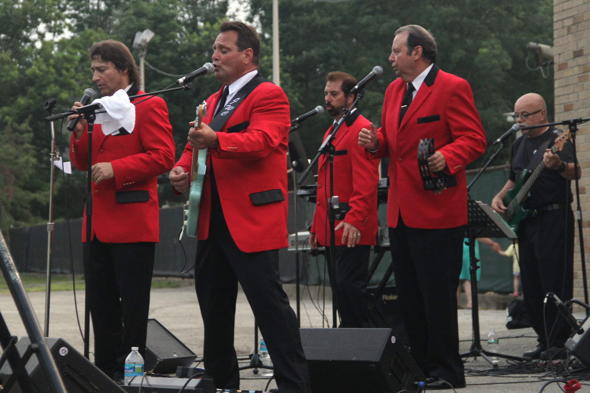 Grant Park in Hewlett was filled with the sounds of the Jersey Four as they performed songs by Frankie Valli and the Four Seasons. The band includes Victor Negron, Joe Celento, Lou Reed and John Ferrulli.
