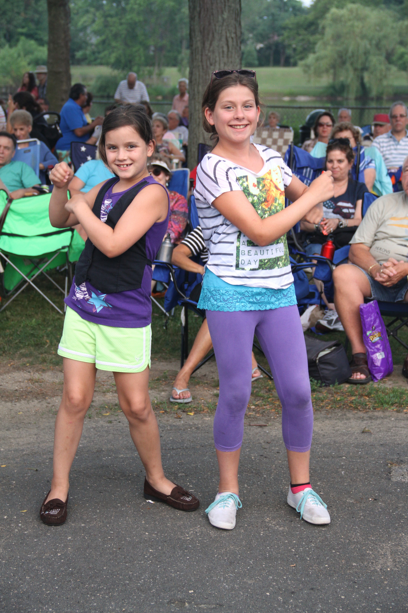 Kayla and Kerry Stuparich danced to the tunes performed by The Jersey Four.