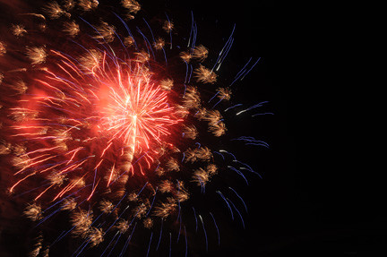 Grucci Fireworks lit up the night sky with patriotic splashes of color.
