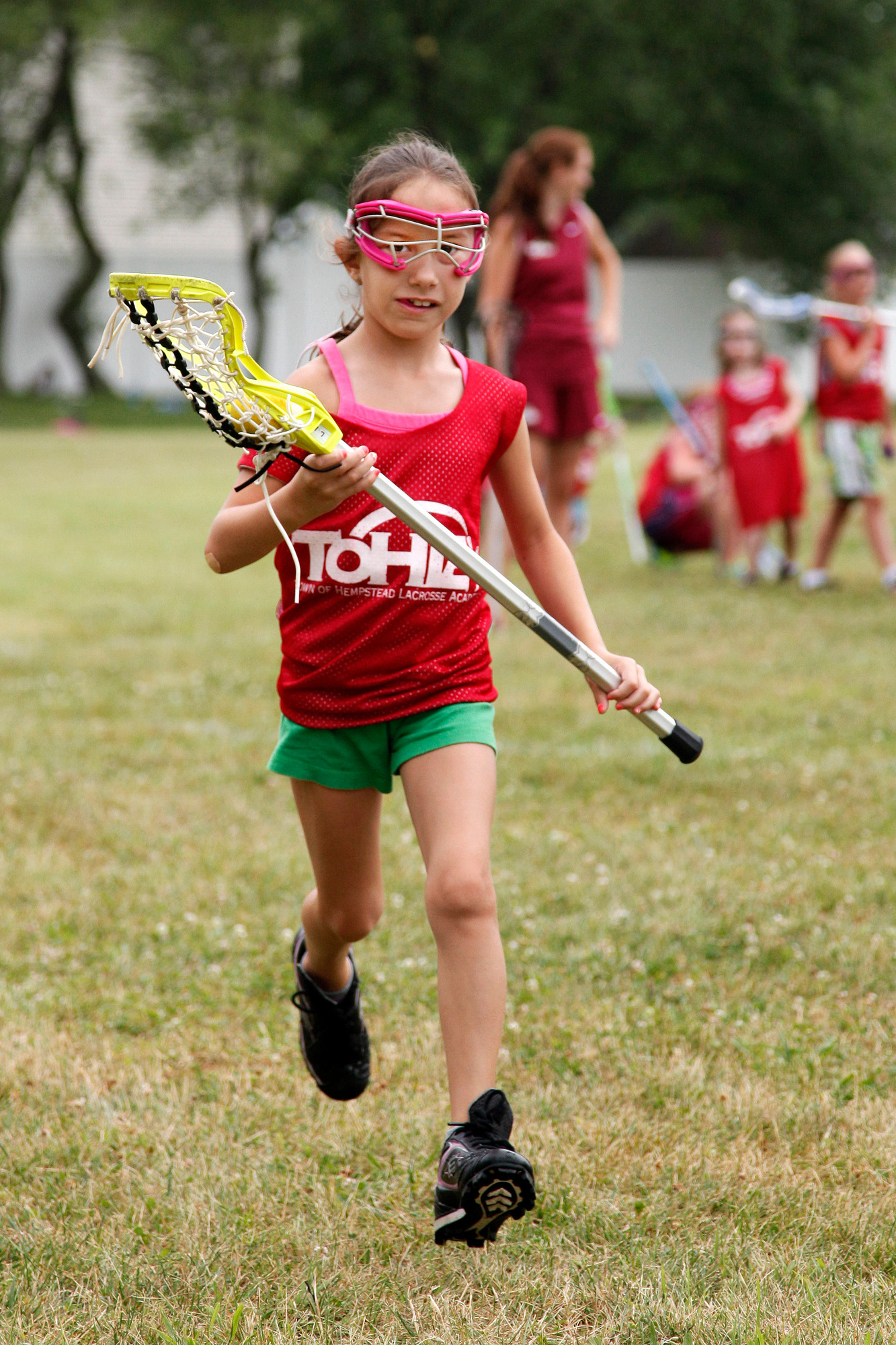 Leanna Kwarta, 7, of Lindenhurst, was one of the many young athletes who participated in the clinic.