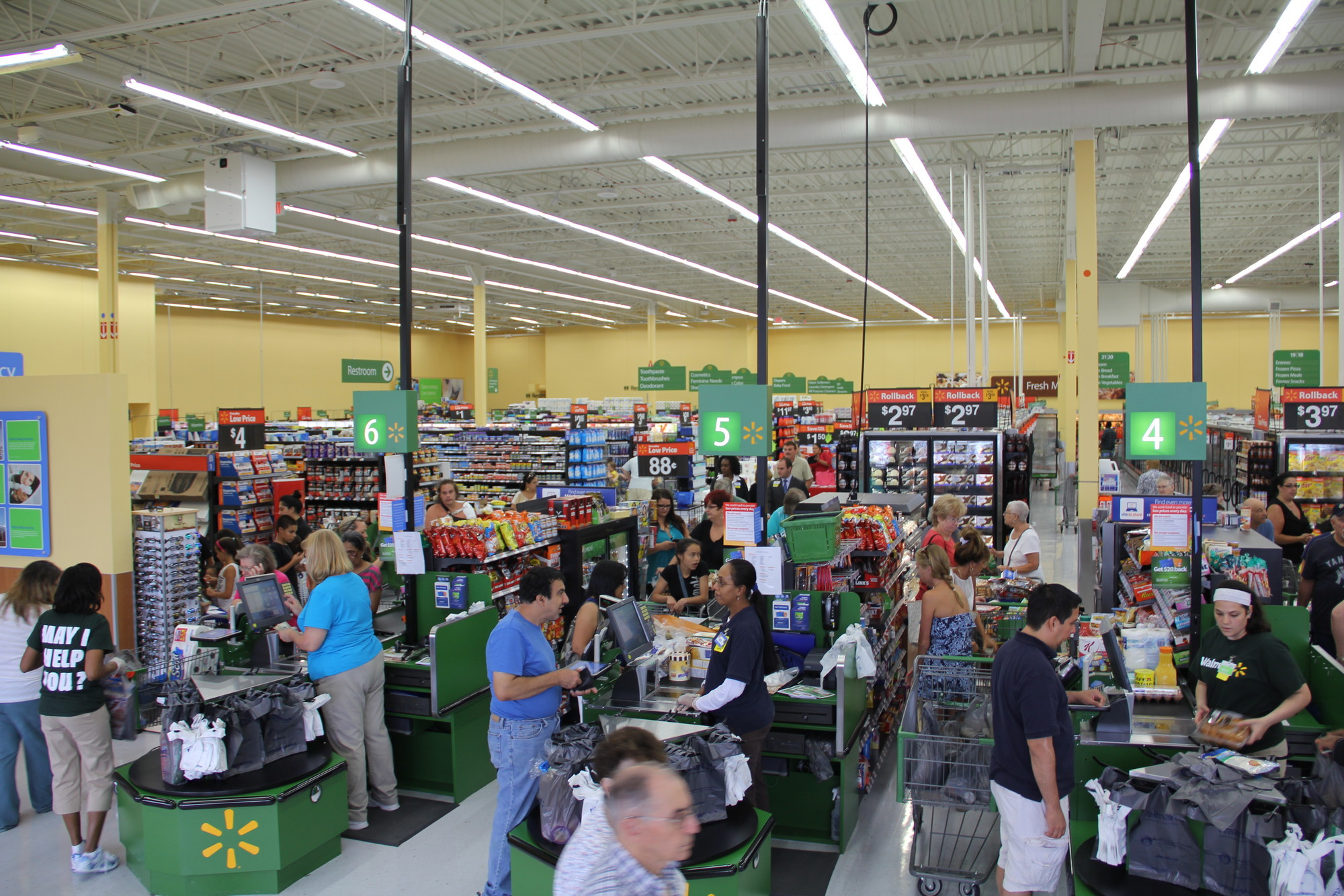 Walmart Neighborhood Market in Levittown is roughly one-third the size of a traditional Walmart Supermarket, one of which already exists in Levittown. Its grand opening on July 12 attracted hundreds of customers.