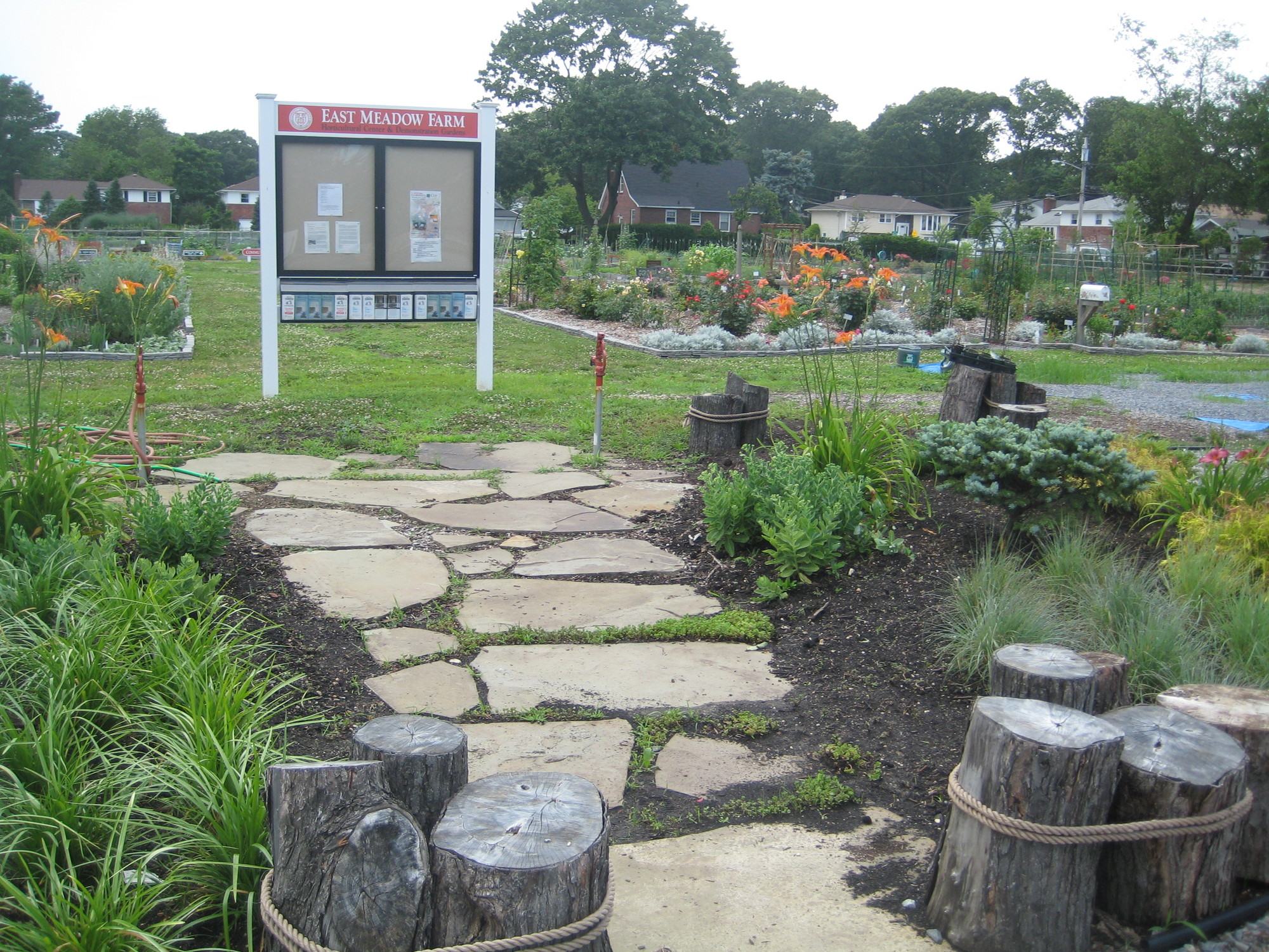East Meadow's Horticultural Center and Demonstration Garden, on Merrick Avenue, is an educational resource for the community.
