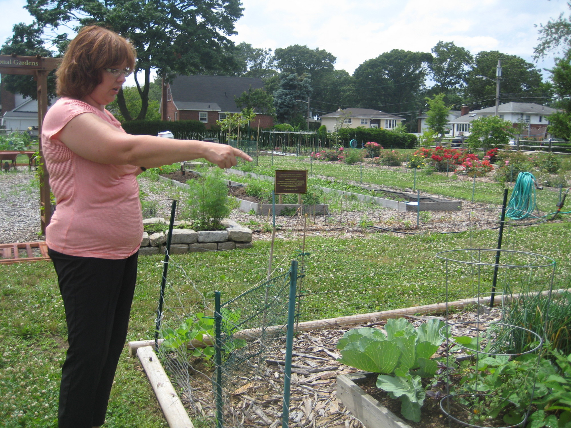 Bonnie Klein, an extension community educator, gave the Herald a tour of the garden on July 3.