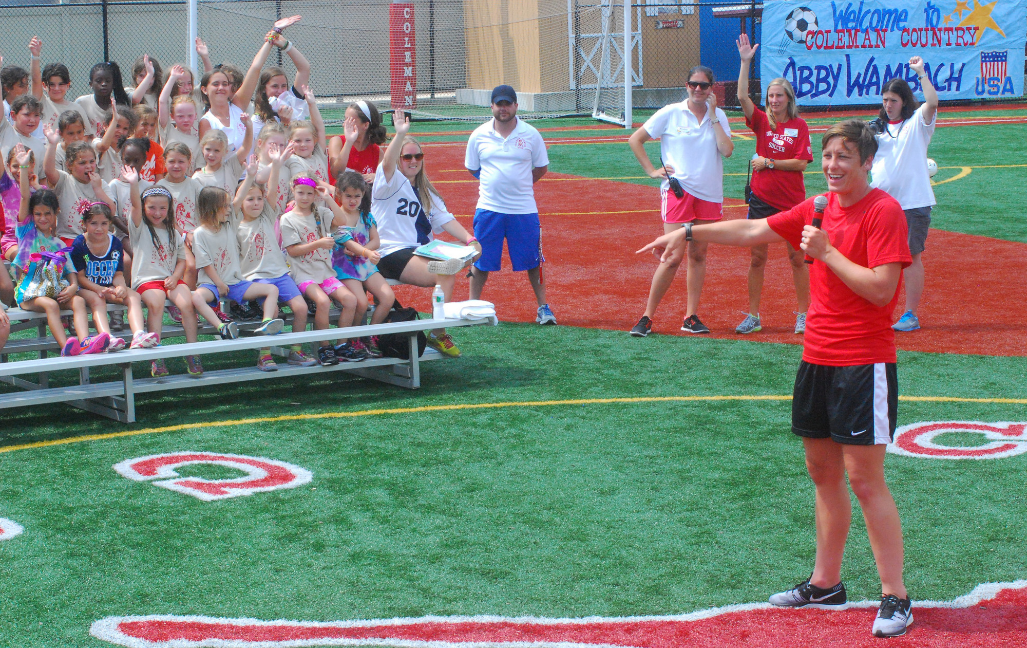 Wambach spoke to Coleman campers about the importance of �dreaming big.""