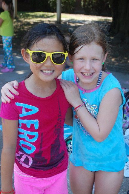 Karen Ye, left, a student at the Wheeler Avenue School, and Vivian Laskowski, who attends the James A. Dever School, have become good friends this summer.