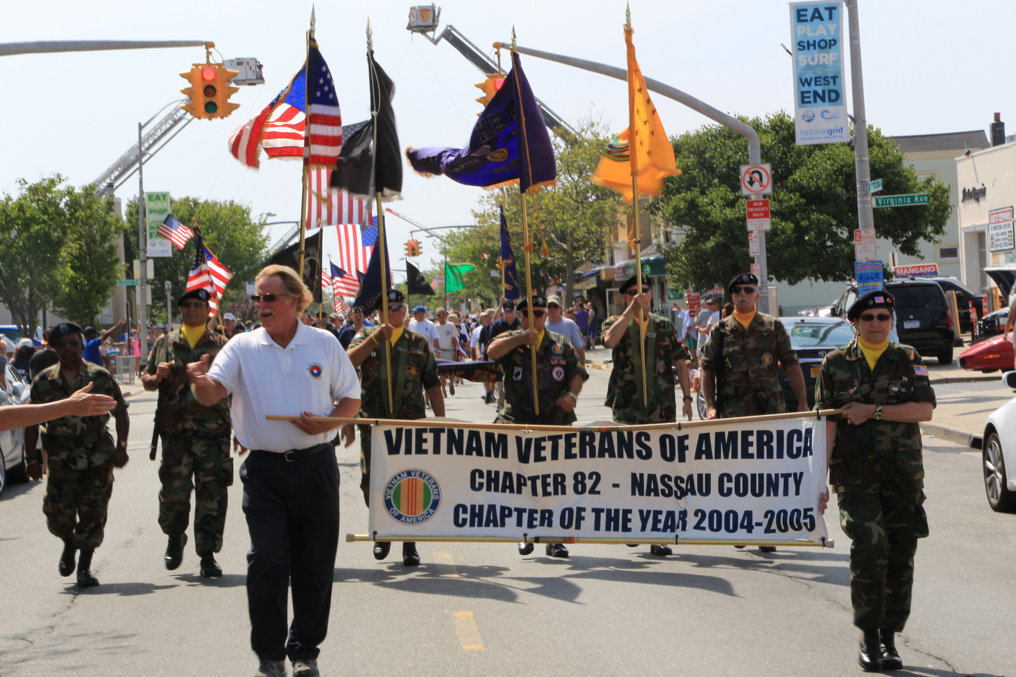 The Nassau County Vietnam Veterans of America marched with pride.