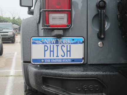 This license plate was the envy of Phish phans at the show.