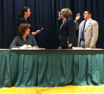John Ferrara and Nina Lanci were recently sworn in as vice president and president, respectively, of the North Bellmore Board of Education.