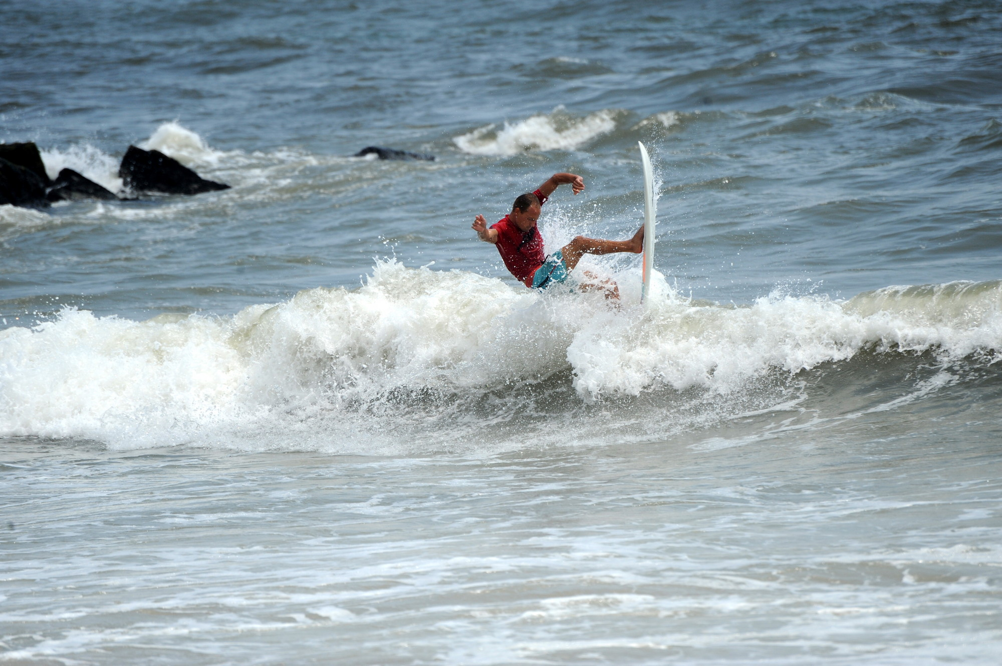 Surfer Alex Fawess was among the 48 competitors in last weekend's surfing contest.