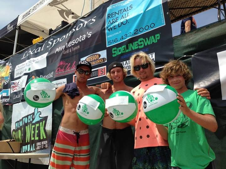 Surfers Brian Pollack, far left, Leif Engstrom, Bryan Laide and Mike Vanaman.
