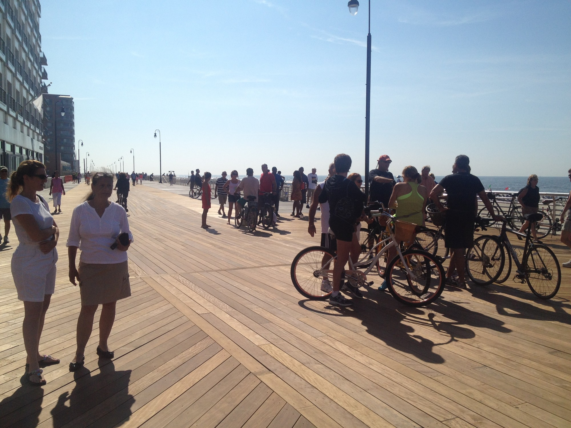 Hundreds gathered on the new boardwalk on Saturday.