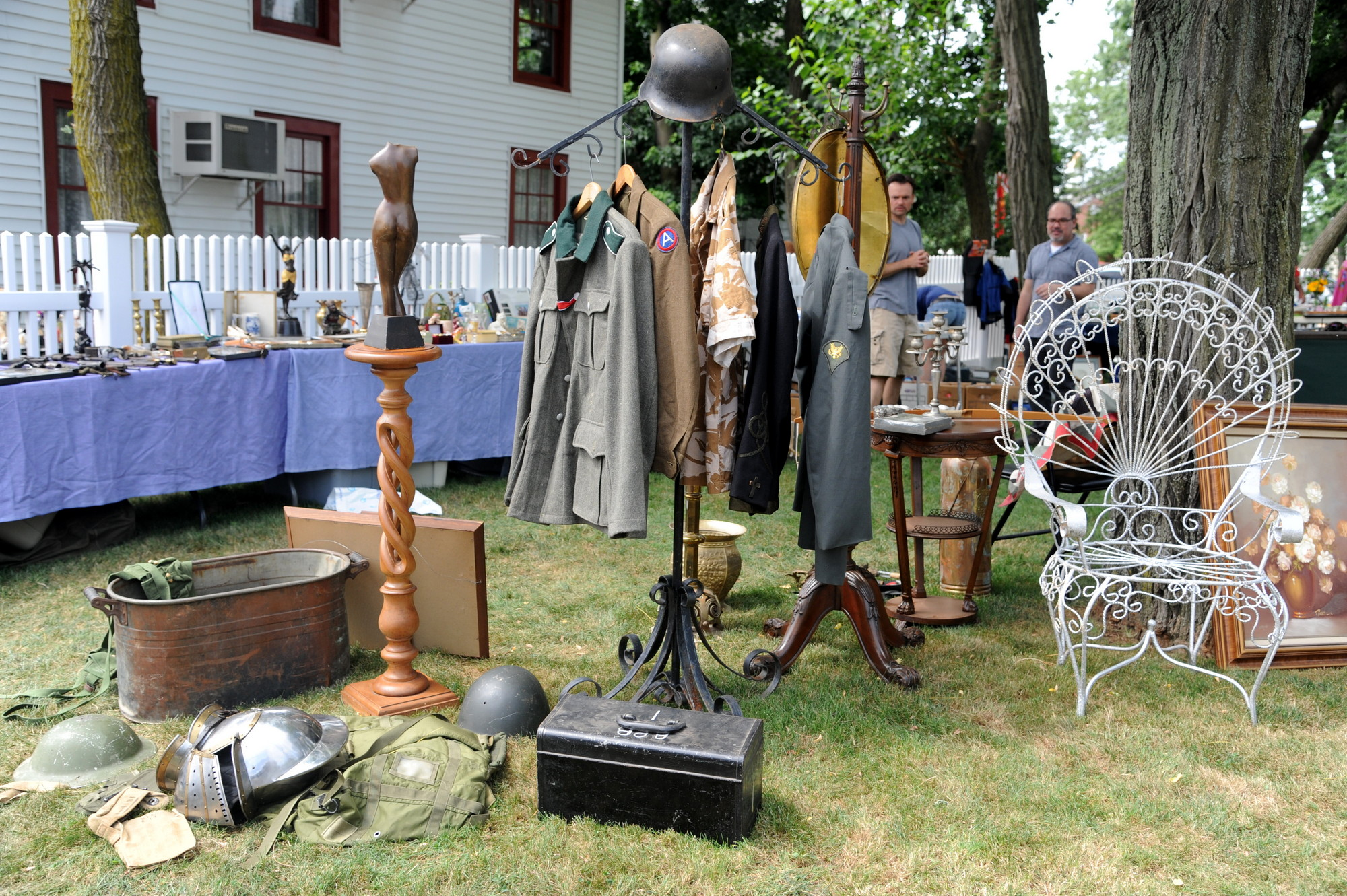 Visitors rummaged through a wide spread of antiques at the Trash and Treasure Sale on July 27.