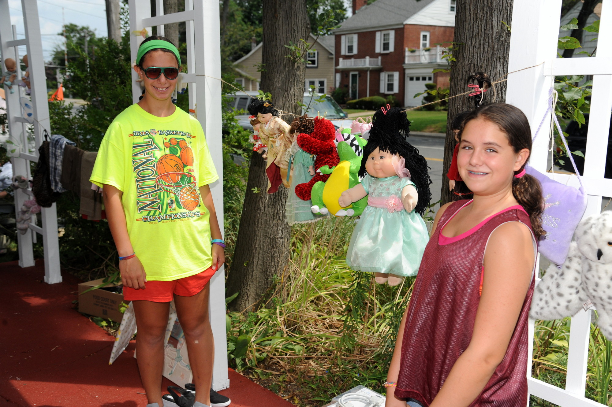 Sam Calcadno,11, and Jamie Behar,11, sold their wares of childhood toys.