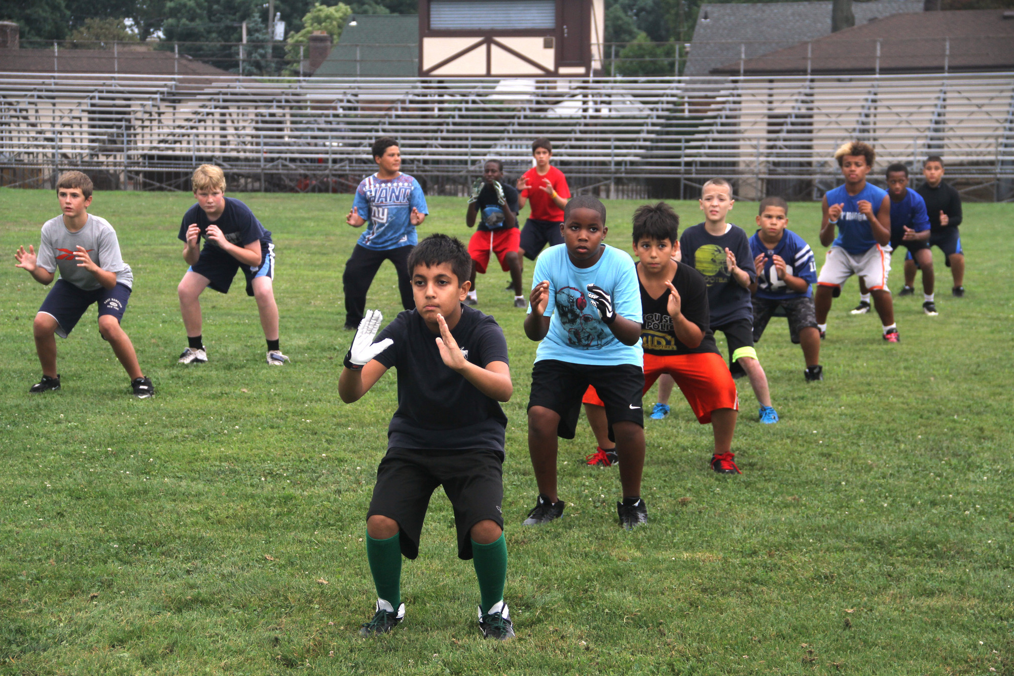 Green Hornets players took part in a four-day skill camp last week at Firemen�s Field to get ready for the 2013 football season.