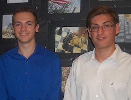 Luke Demas, left, and Brian Sinko were the head of Central High School's class of 2012.