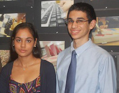 Silvia Arora and Charles Sanky were the head of North High School's class of 2012.