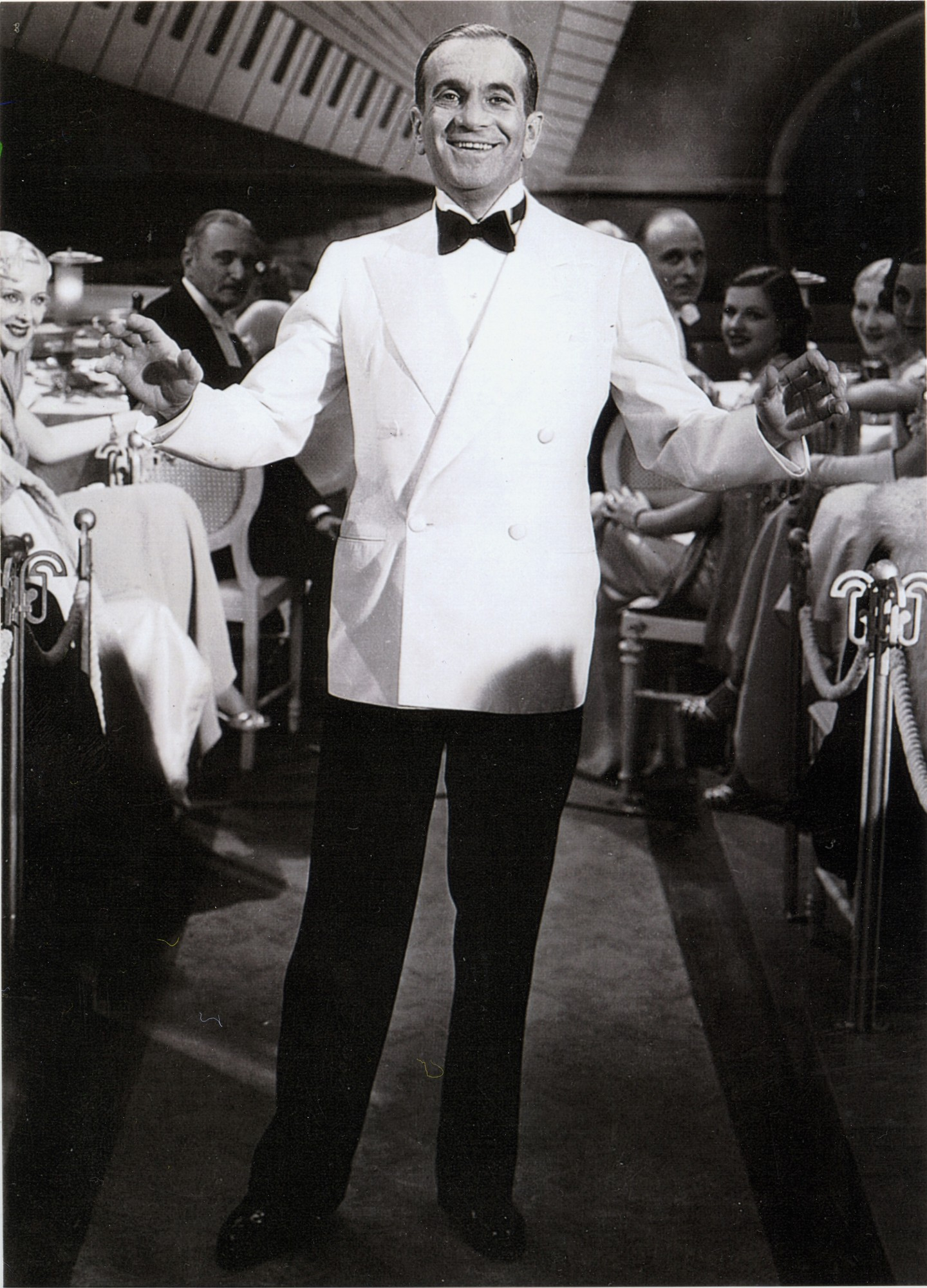 "Al Jolson as he appeared in the 1935 Warner Brothers film ""Go Into Your Dance,"" in which he starred with his wife (at the time) Ruby Keeler."