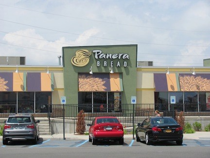 This Panera Bread outlet in Lawrence will be the model for the Island Park store, officials say.