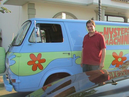 Bobby Zigman, of Collision Depot, proudly displayed his Scooby Doo van and his Knight Rider car.
