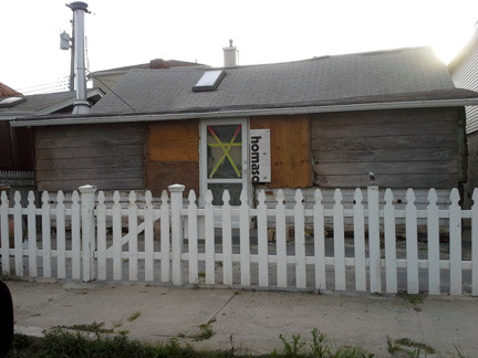 Suzanne Katz-Fox�s Pennsylvania Avenue home remains boarded up, nine months after Sandy.