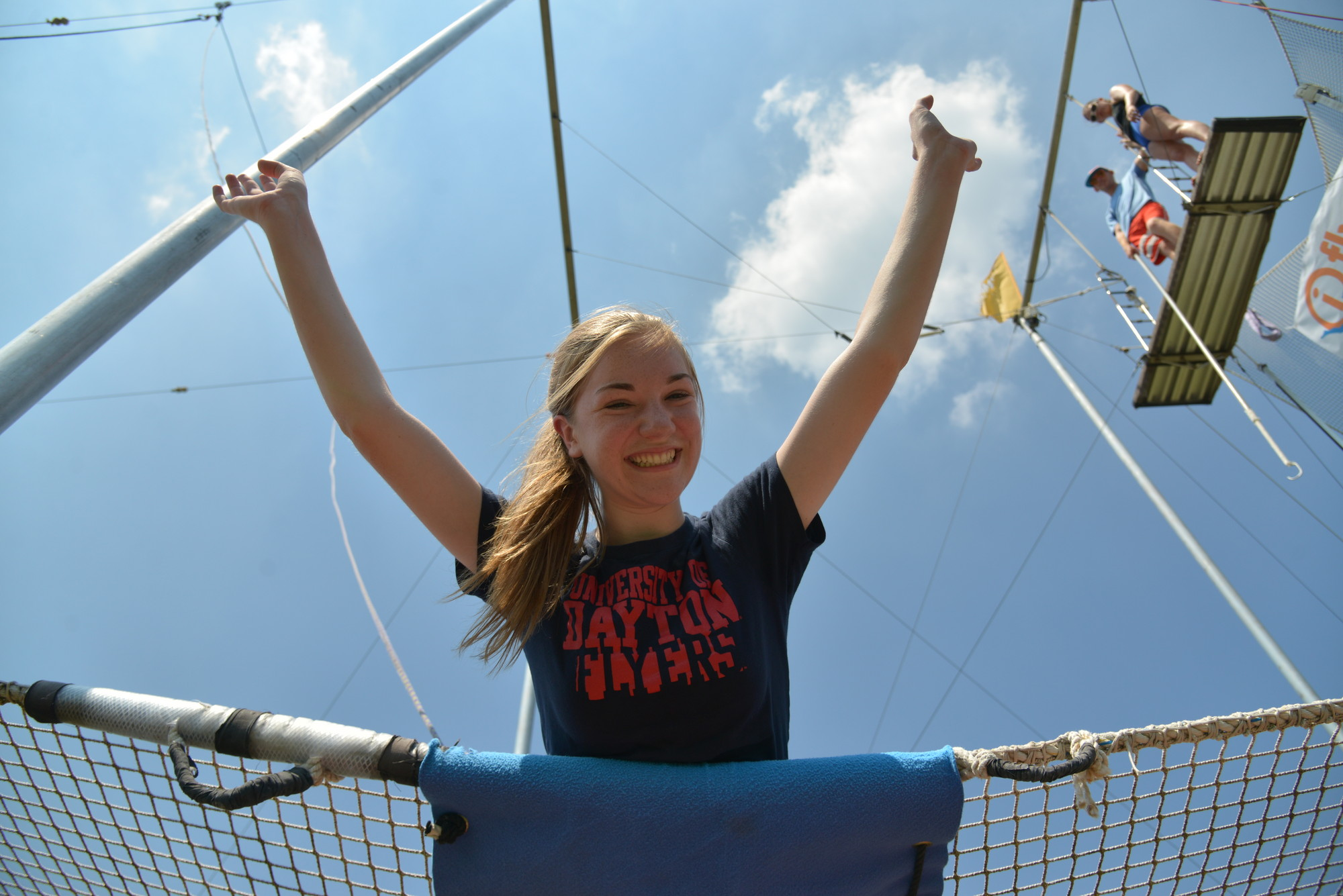 Herald intern Grace Poppe soared during her her first trapeze lesson at Eisenhower Park in East Meadow.
