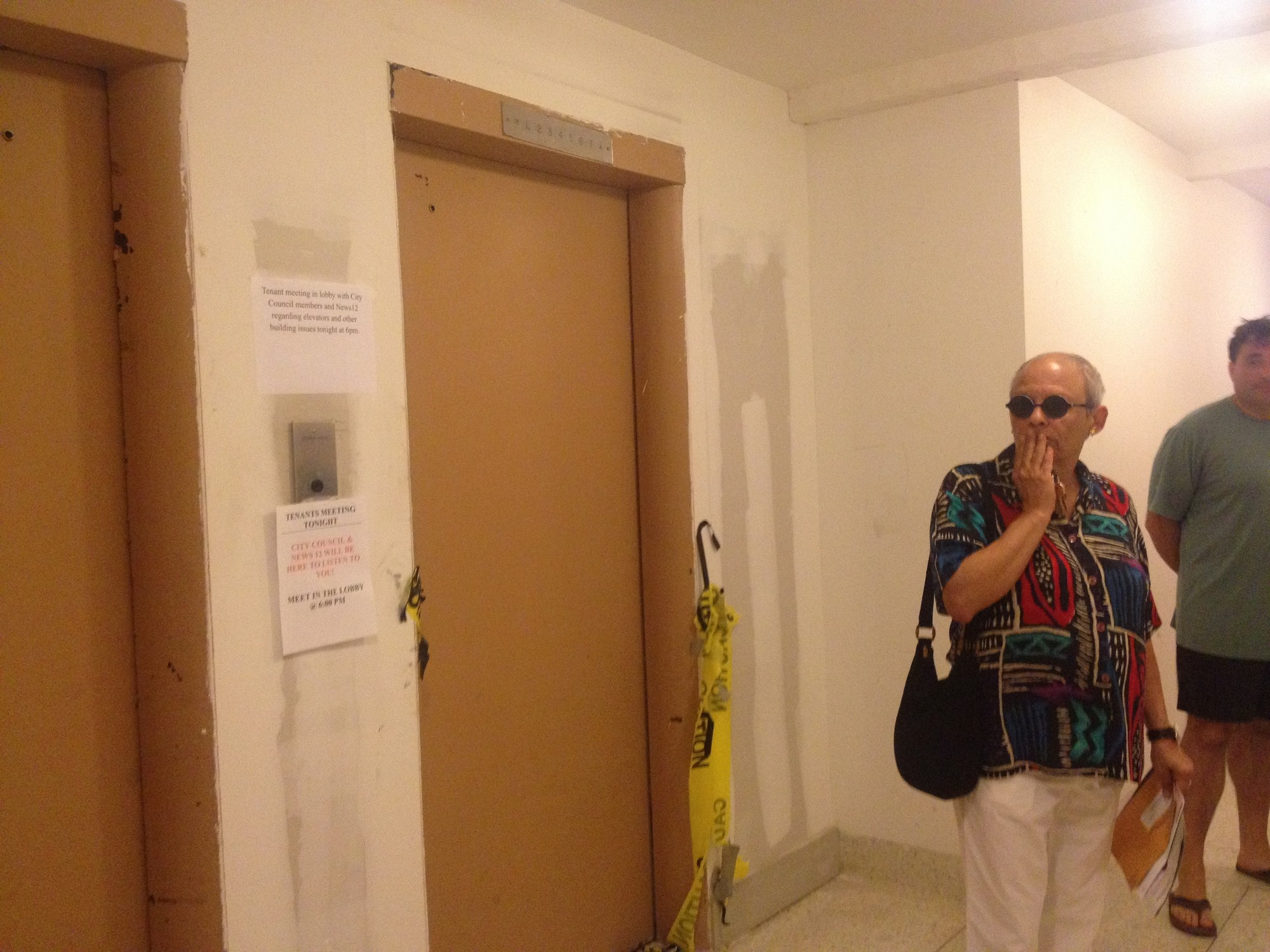 Tenants at 10 Monroe Blvd. said that they hope repairs to the building's two elevators are made soon.
