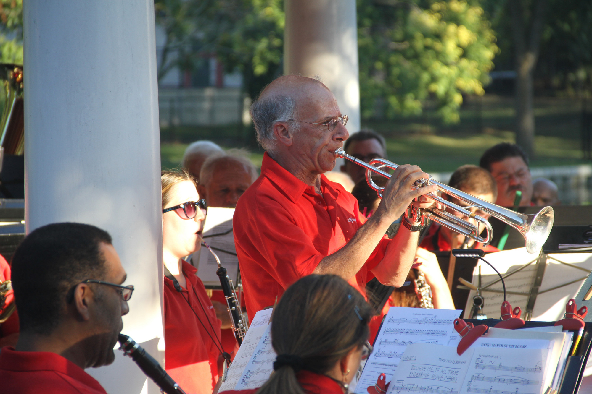Trumpeter David Kopstein was a featured musician at the concert.