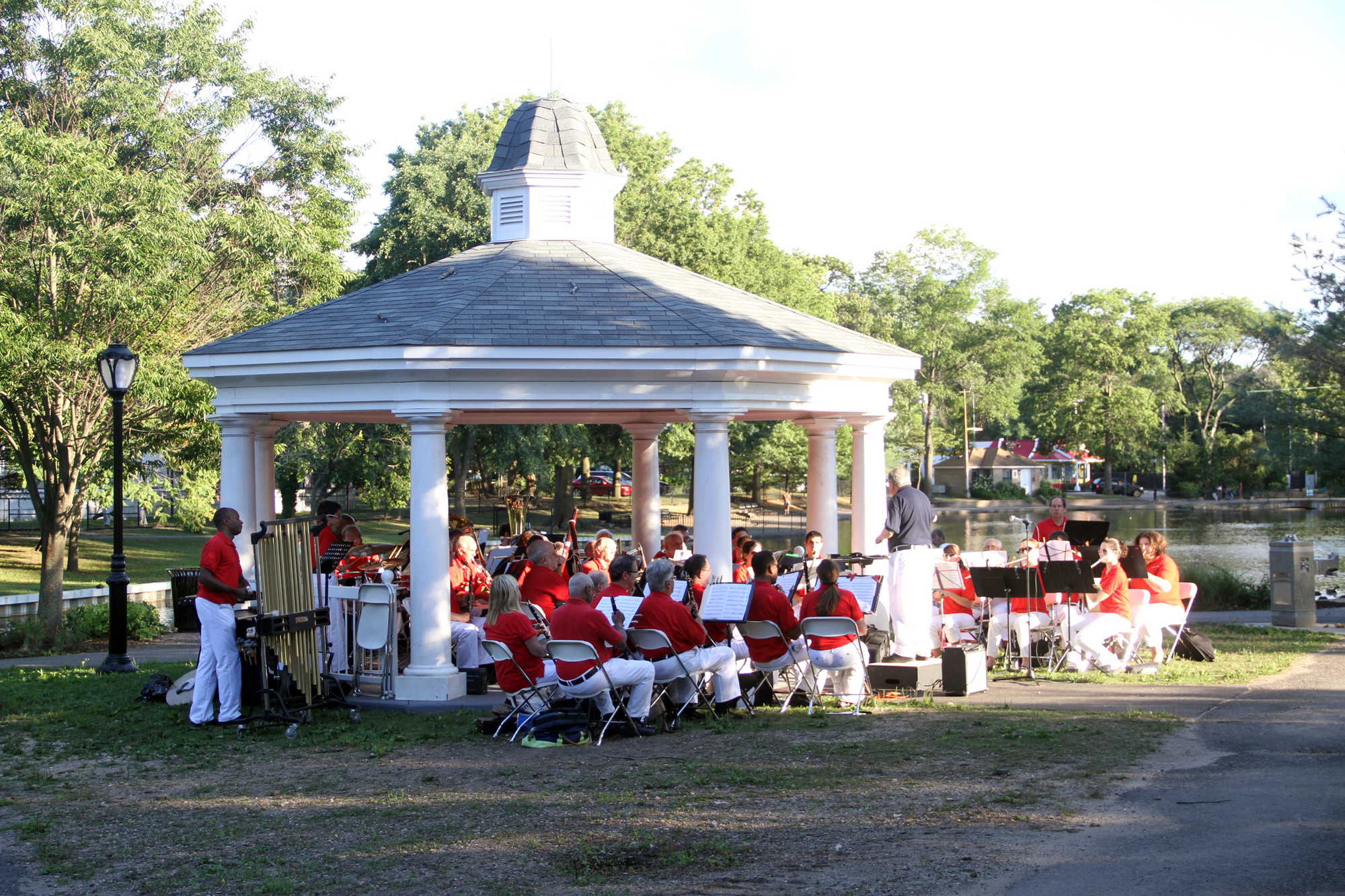 The Band of Long Island performed at Hall's Pond Park on Sunday evening.