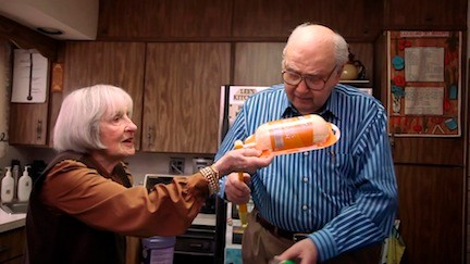 Lee and Morty Kaufman of Valley Stream, both 90, are starring in a Swiffer commercial that has become a hit on YouTube.