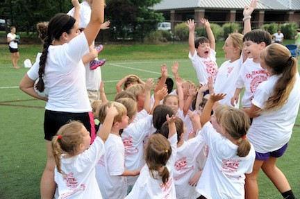 Everyone had a great time at the soccer clinic.