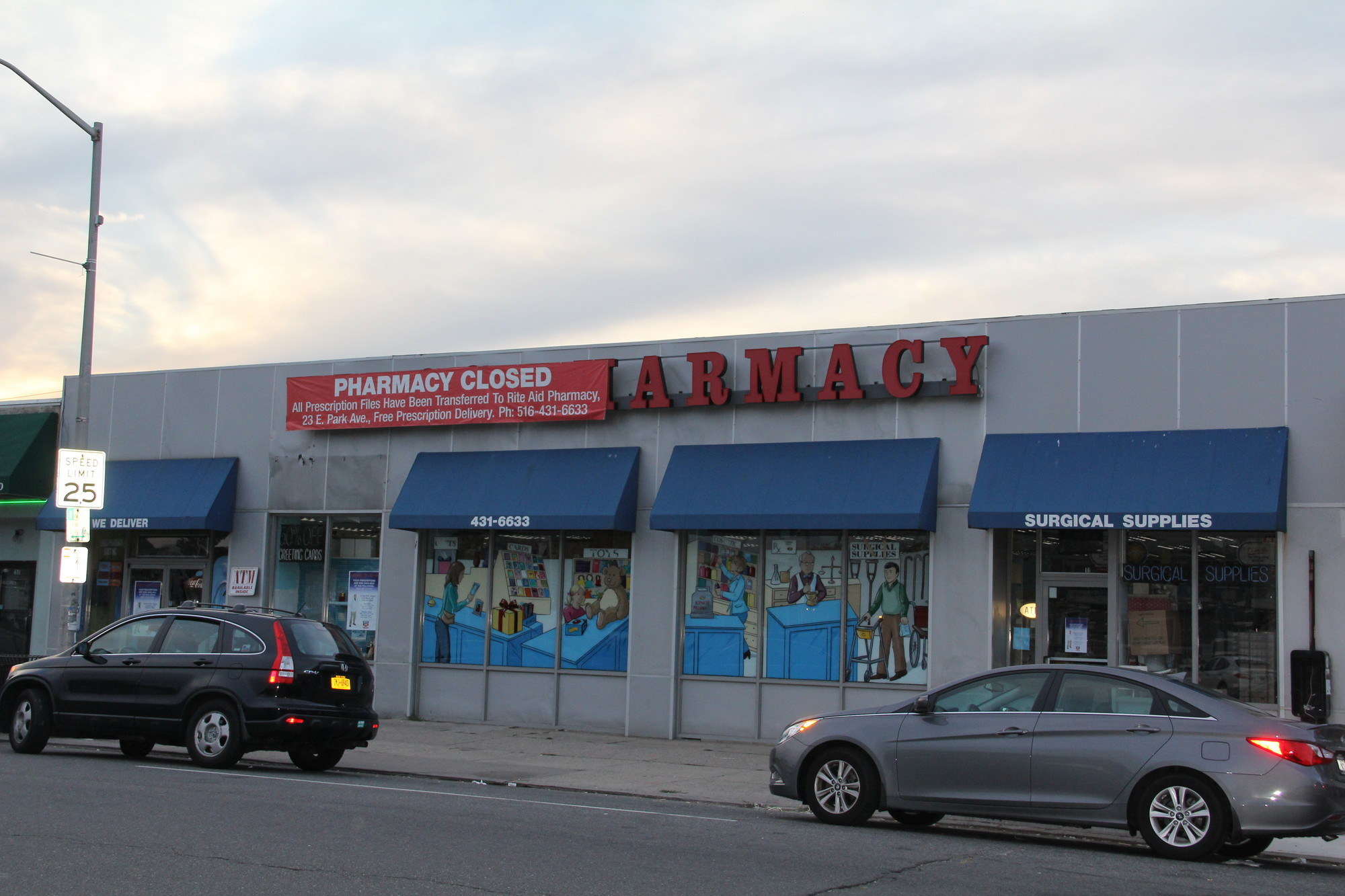Kings pharmacy at 639 E. Park Ave. closed its doors on Monday. A sign on the door said that it had merged with Rite Aid.