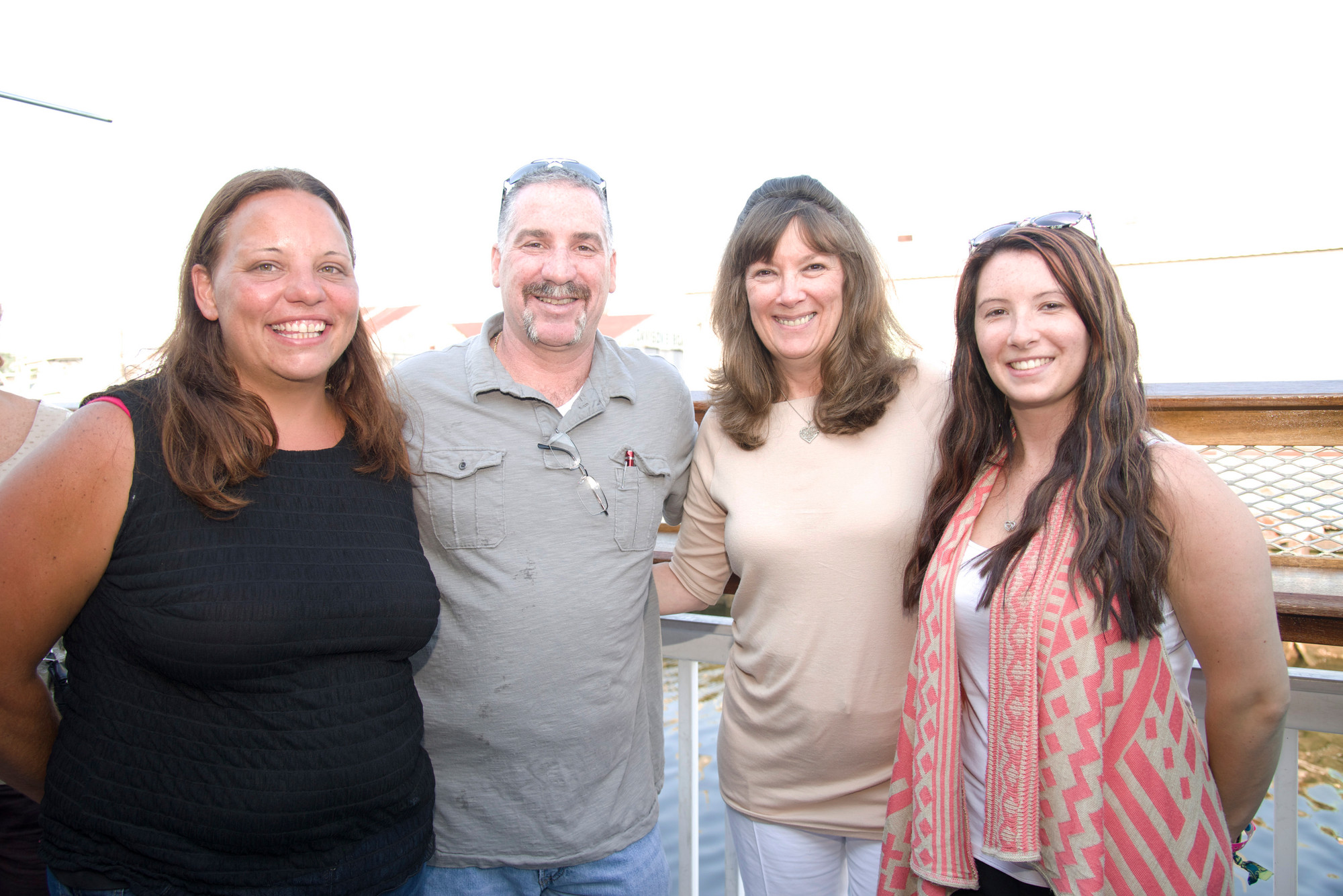 Dena Arnold,Ronald Roeill, Tammy Pacheco, Kimm Pacheco at the fishery in ER