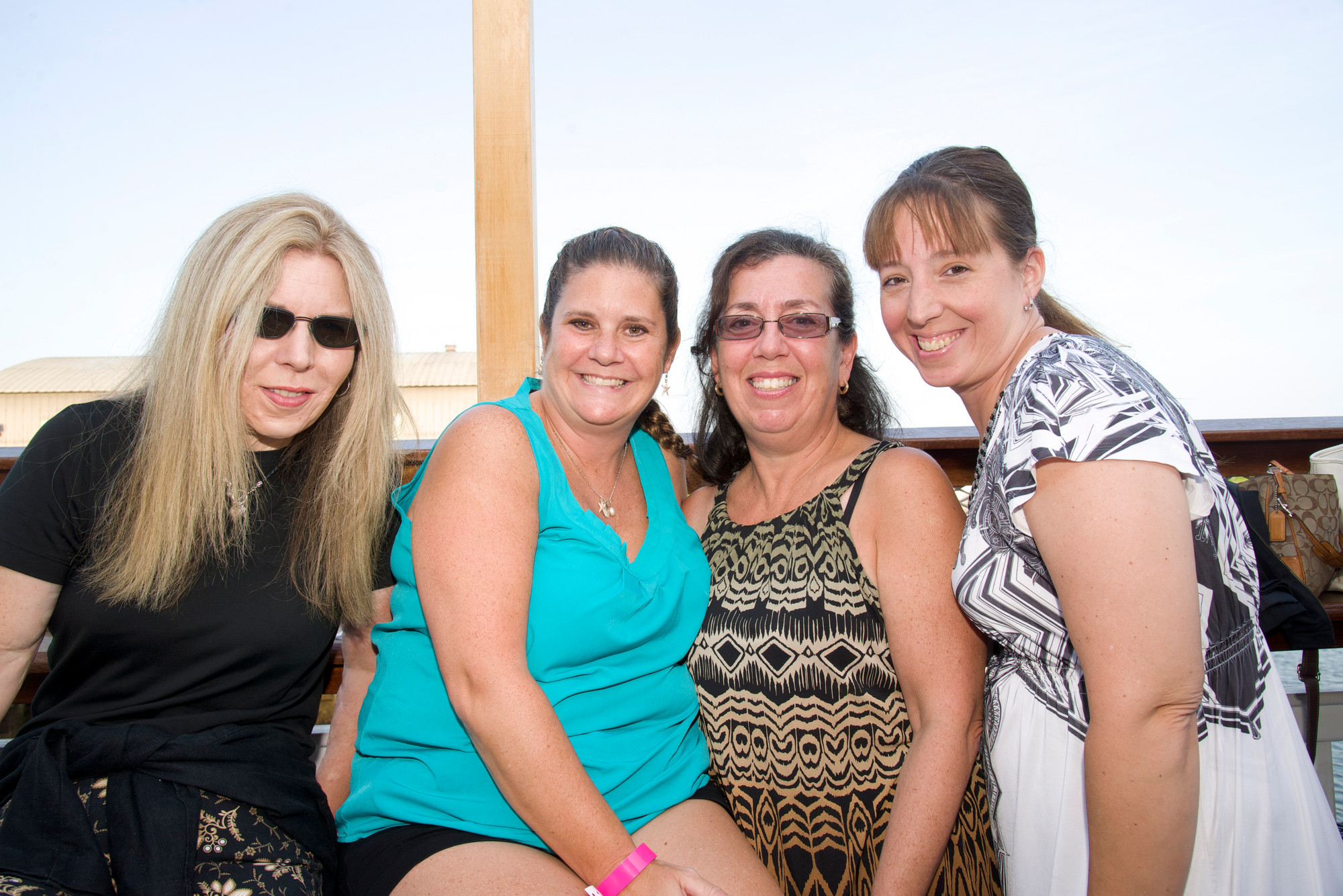 Trish Daly Louw, Camille Murphy, Christine Jaskowiak and Connie Cicero at the fundraiser.