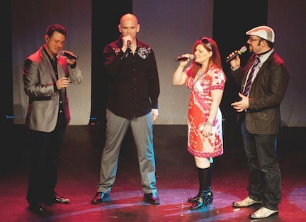 Blue Jupiter, a fun-loving a cappella group that blends jazz with beatboxing and harmonies, has performed all over the world. Jonathan Minkoff, left, the band�s �human orchestra� is a 1986 BHS graduate.