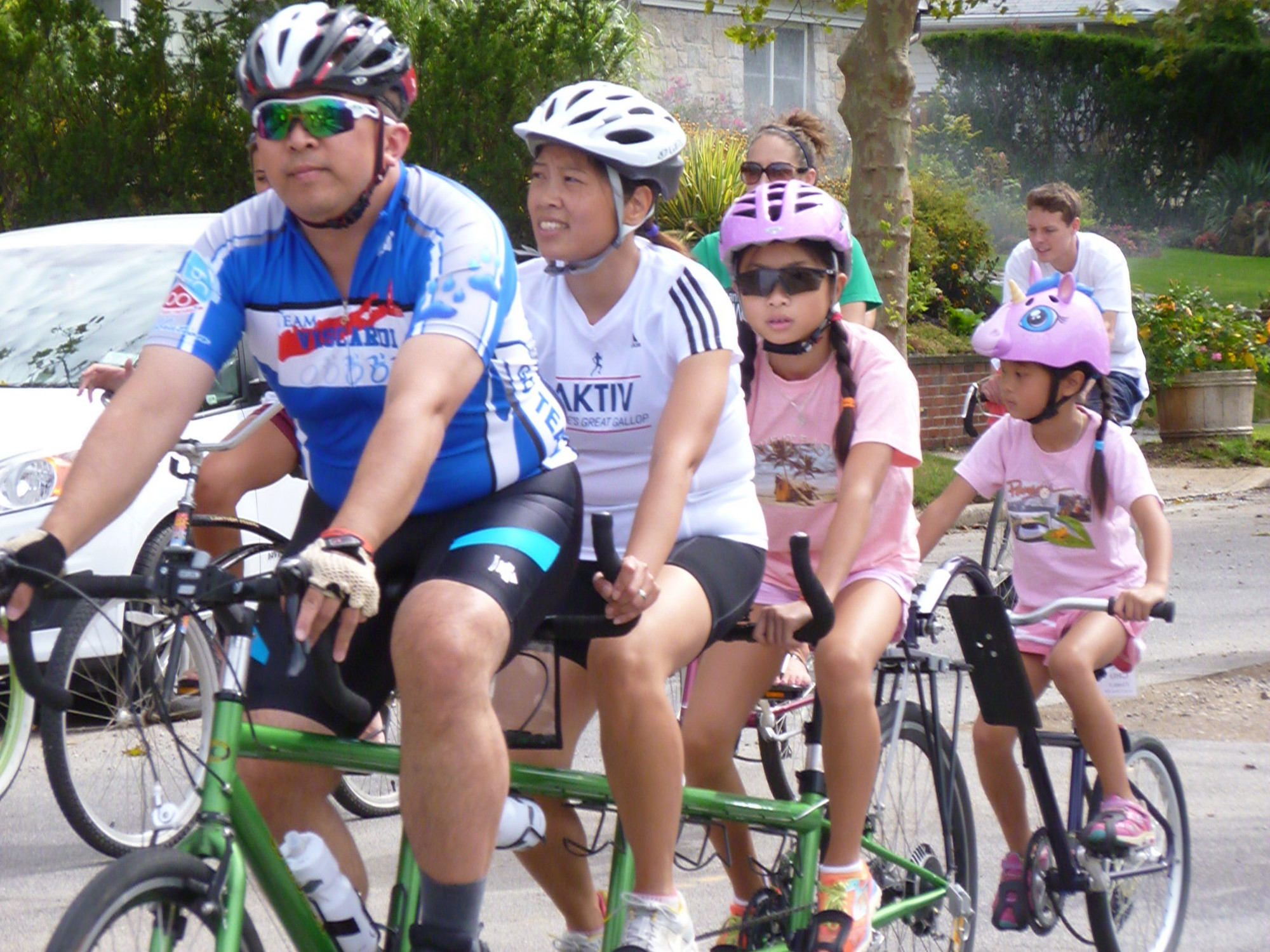 The CURB event was a family affair for the Chu family of Glen Cove, who rode on a bicycle built for four.